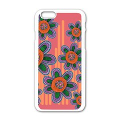 Colorful Floral Dream Apple Iphone 6/6s White Enamel Case by DanaeStudio