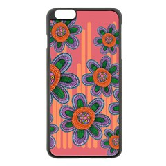 Colorful Floral Dream Apple Iphone 6 Plus/6s Plus Black Enamel Case by DanaeStudio