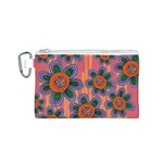Colorful Floral Dream Canvas Cosmetic Bag (S)