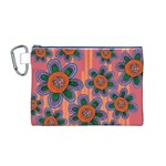 Colorful Floral Dream Canvas Cosmetic Bag (M)