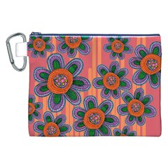 Colorful Floral Dream Canvas Cosmetic Bag (xxl) by DanaeStudio