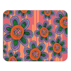 Colorful Floral Dream Double Sided Flano Blanket (large)  by DanaeStudio