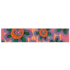 Colorful Floral Dream Flano Scarf (small)  by DanaeStudio