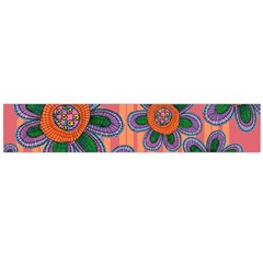 Colorful Floral Dream Flano Scarf (large)  by DanaeStudio