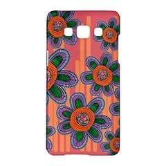 Colorful Floral Dream Samsung Galaxy A5 Hardshell Case  by DanaeStudio