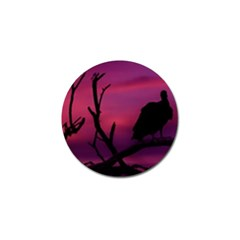 Vultures At Top Of Tree Silhouette Illustration Golf Ball Marker (4 Pack) by dflcprints