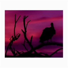 Vultures At Top Of Tree Silhouette Illustration Small Glasses Cloth by dflcprints