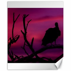 Vultures At Top Of Tree Silhouette Illustration Canvas 16  X 20   by dflcprints