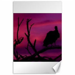 Vultures At Top Of Tree Silhouette Illustration Canvas 24  X 36  by dflcprints