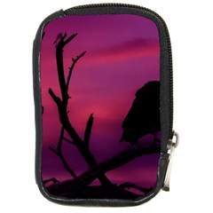 Vultures At Top Of Tree Silhouette Illustration Compact Camera Cases by dflcprints