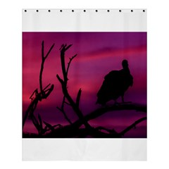 Vultures At Top Of Tree Silhouette Illustration Shower Curtain 60  X 72  (medium)  by dflcprints