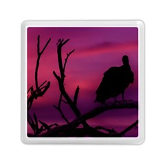 Vultures At Top Of Tree Silhouette Illustration Memory Card Reader (square)  by dflcprints