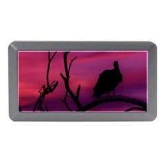 Vultures At Top Of Tree Silhouette Illustration Memory Card Reader (mini) by dflcprints