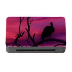 Vultures At Top Of Tree Silhouette Illustration Memory Card Reader With Cf by dflcprints
