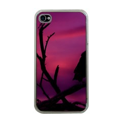 Vultures At Top Of Tree Silhouette Illustration Apple Iphone 4 Case (clear) by dflcprints