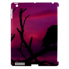Vultures At Top Of Tree Silhouette Illustration Apple Ipad 3/4 Hardshell Case (compatible With Smart Cover) by dflcprints