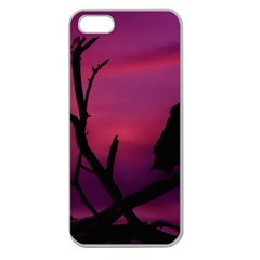 Vultures At Top Of Tree Silhouette Illustration Apple Seamless Iphone 5 Case (clear) by dflcprints