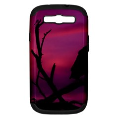 Vultures At Top Of Tree Silhouette Illustration Samsung Galaxy S Iii Hardshell Case (pc+silicone) by dflcprints