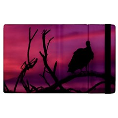 Vultures At Top Of Tree Silhouette Illustration Apple Ipad 2 Flip Case by dflcprints