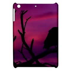Vultures At Top Of Tree Silhouette Illustration Apple Ipad Mini Hardshell Case by dflcprints