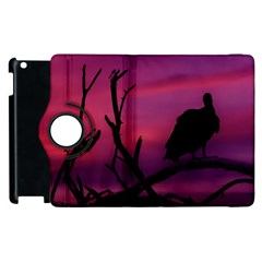 Vultures At Top Of Tree Silhouette Illustration Apple Ipad 3/4 Flip 360 Case by dflcprints