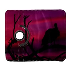 Vultures At Top Of Tree Silhouette Illustration Samsung Galaxy S  Iii Flip 360 Case by dflcprints