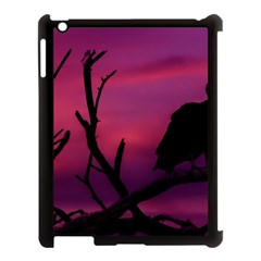 Vultures At Top Of Tree Silhouette Illustration Apple Ipad 3/4 Case (black) by dflcprints