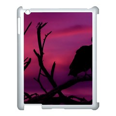 Vultures At Top Of Tree Silhouette Illustration Apple Ipad 3/4 Case (white) by dflcprints