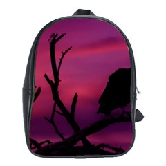 Vultures At Top Of Tree Silhouette Illustration School Bags (xl)  by dflcprints