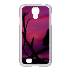 Vultures At Top Of Tree Silhouette Illustration Samsung Galaxy S4 I9500/ I9505 Case (white) by dflcprints