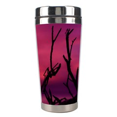 Vultures At Top Of Tree Silhouette Illustration Stainless Steel Travel Tumblers by dflcprints