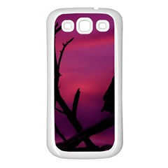 Vultures At Top Of Tree Silhouette Illustration Samsung Galaxy S3 Back Case (white) by dflcprints