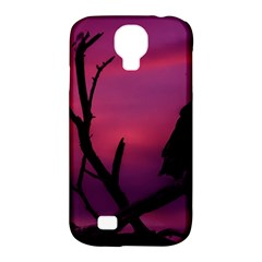 Vultures At Top Of Tree Silhouette Illustration Samsung Galaxy S4 Classic Hardshell Case (pc+silicone) by dflcprints
