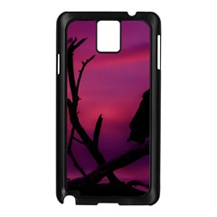 Vultures At Top Of Tree Silhouette Illustration Samsung Galaxy Note 3 N9005 Case (black) by dflcprints