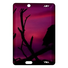 Vultures At Top Of Tree Silhouette Illustration Amazon Kindle Fire Hd (2013) Hardshell Case by dflcprints