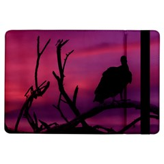 Vultures At Top Of Tree Silhouette Illustration Ipad Air Flip by dflcprints