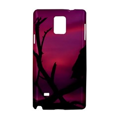 Vultures At Top Of Tree Silhouette Illustration Samsung Galaxy Note 4 Hardshell Case by dflcprints