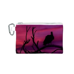 Vultures At Top Of Tree Silhouette Illustration Canvas Cosmetic Bag (s) by dflcprints