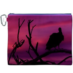 Vultures At Top Of Tree Silhouette Illustration Canvas Cosmetic Bag (xxxl) by dflcprints
