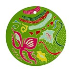 Green Organic Abstract Ornament (Round)