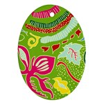 Green Organic Abstract Ornament (Oval)
