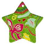 Green Organic Abstract Ornament (Star)