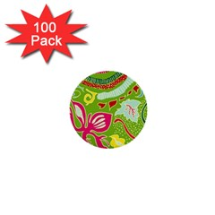 Green Organic Abstract 1  Mini Buttons (100 Pack)  by DanaeStudio