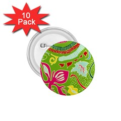 Green Organic Abstract 1 75  Buttons (10 Pack) by DanaeStudio