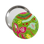 Green Organic Abstract 2.25  Handbag Mirrors