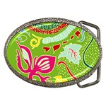 Green Organic Abstract Belt Buckles