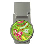 Green Organic Abstract Money Clips (Round)