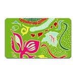 Green Organic Abstract Magnet (Rectangular)