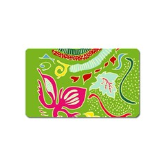 Green Organic Abstract Magnet (name Card) by DanaeStudio