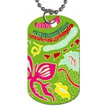 Green Organic Abstract Dog Tag (One Side)